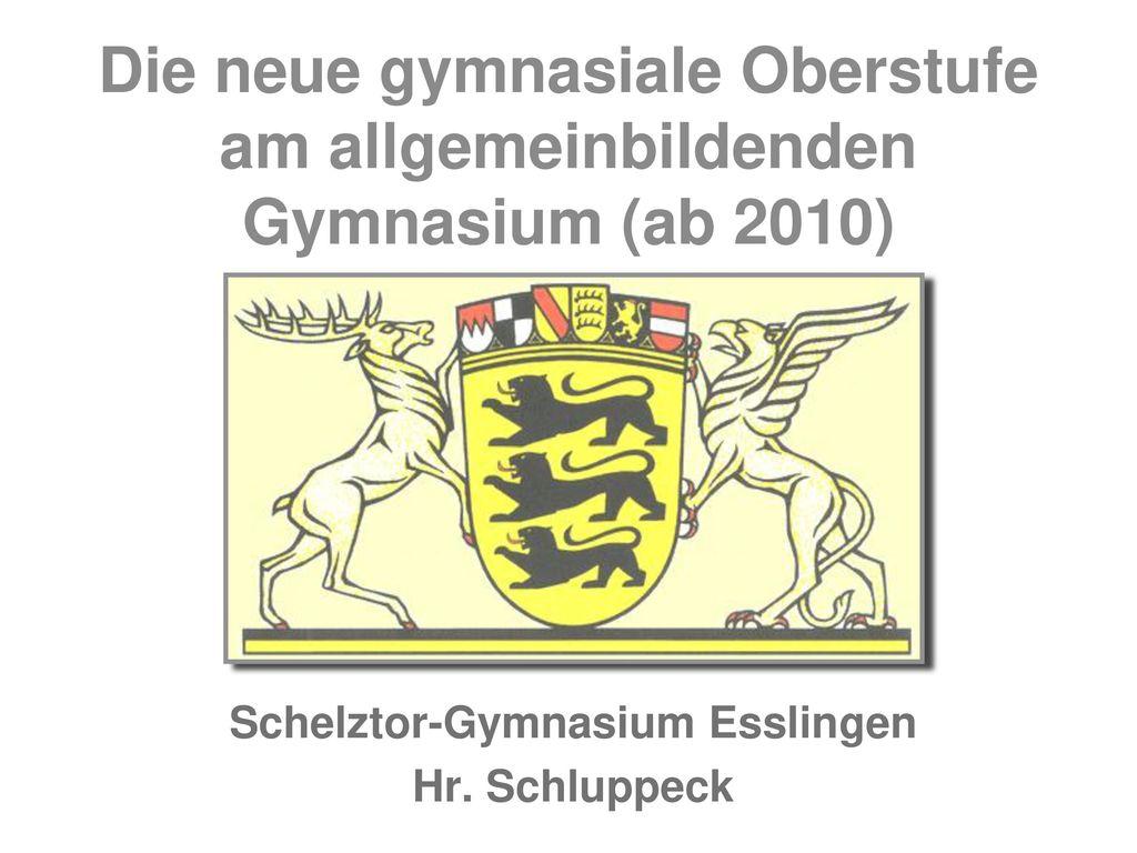 Schelztor-Gymnasium Esslingen Hr. Schluppeck