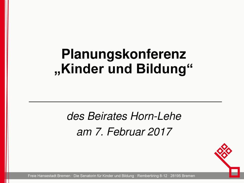 """Planungskonferenz """"Kinder und Bildung"""