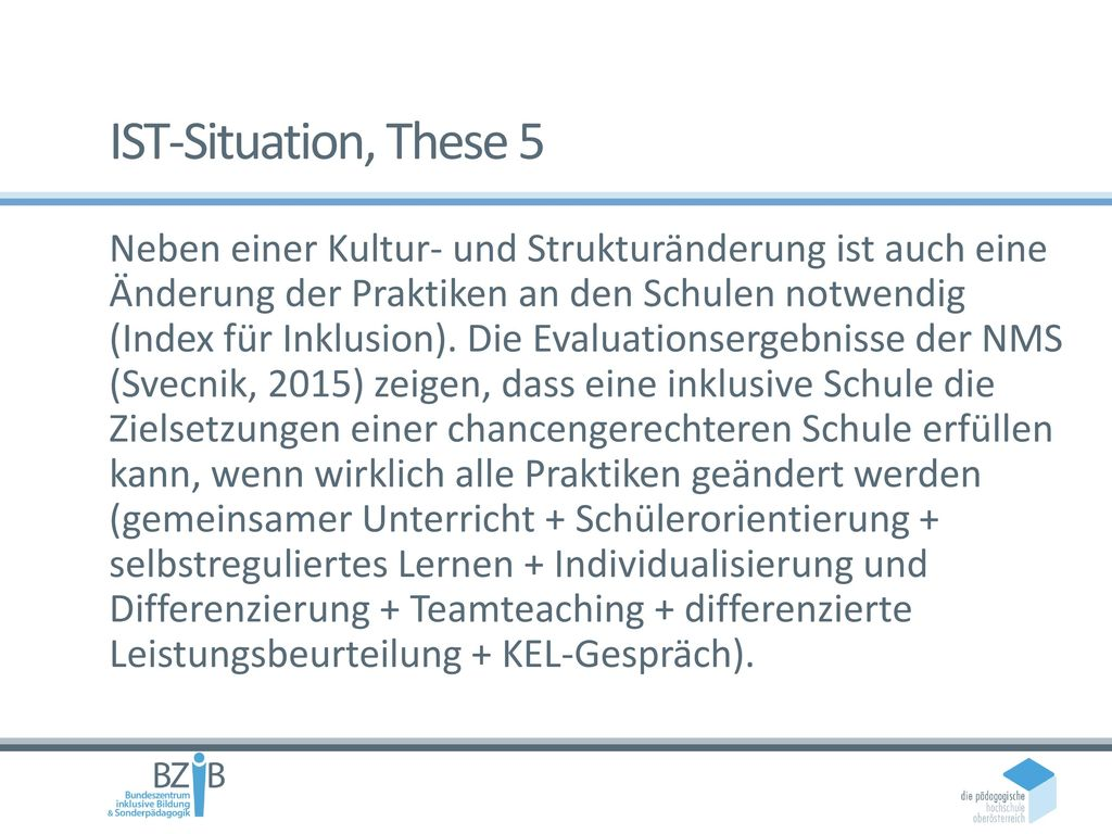 IST-Situation, These 5