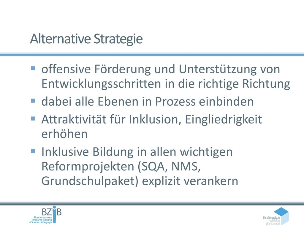 Alternative Strategie
