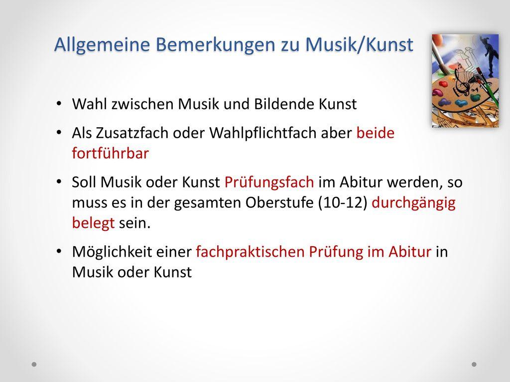 Allgemeine Bemerkungen zu Musik/Kunst