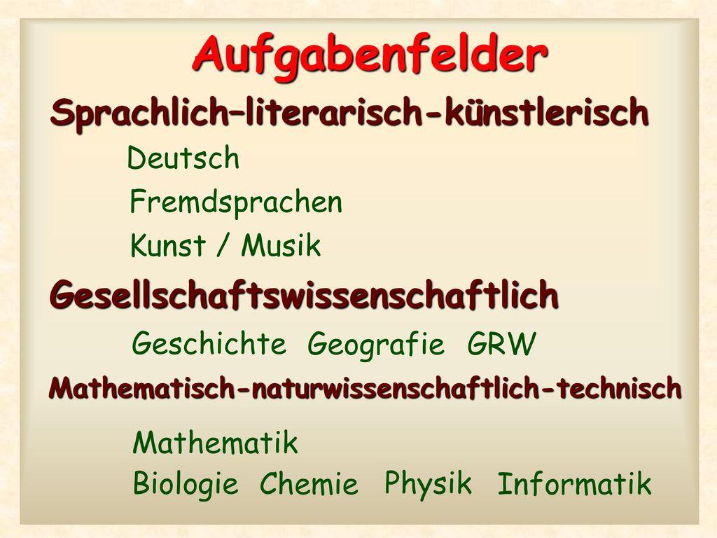 Sprachlich–literarisch-künstlerisch