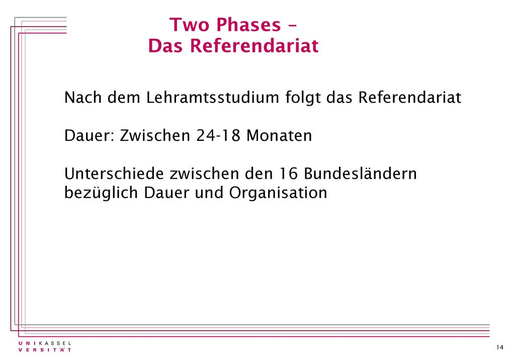 Two Phases – Das Referendariat