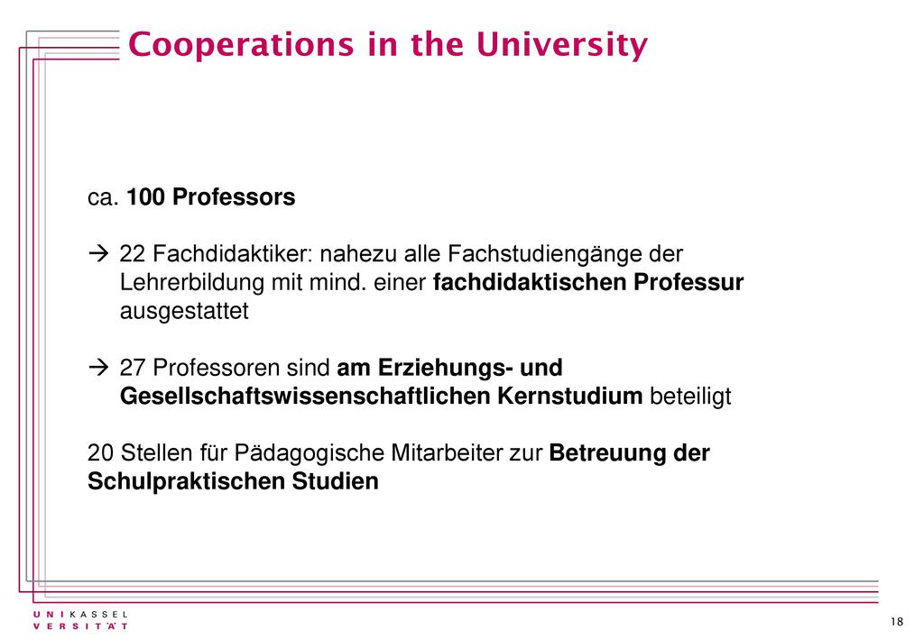 Cooperations in the University