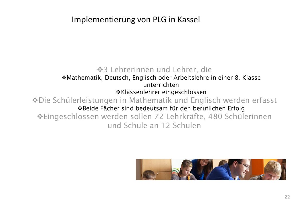 Implementierung von PLG in Kassel