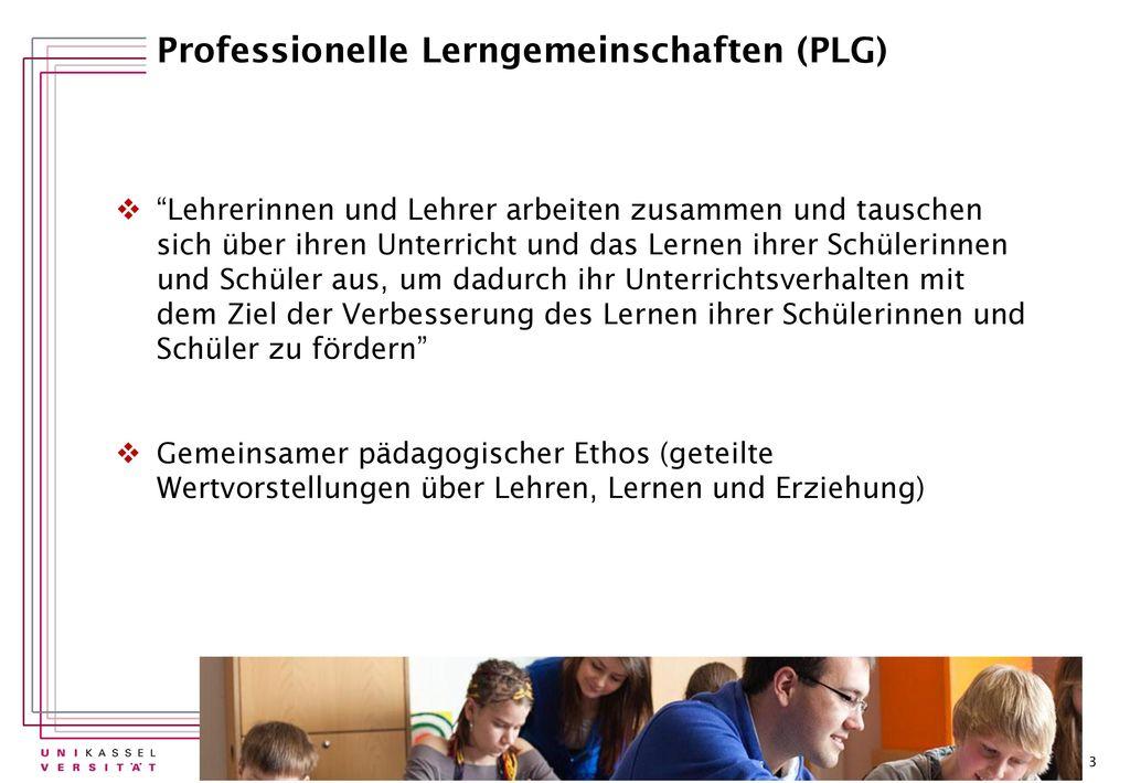 Professionelle Lerngemeinschaften (PLG)