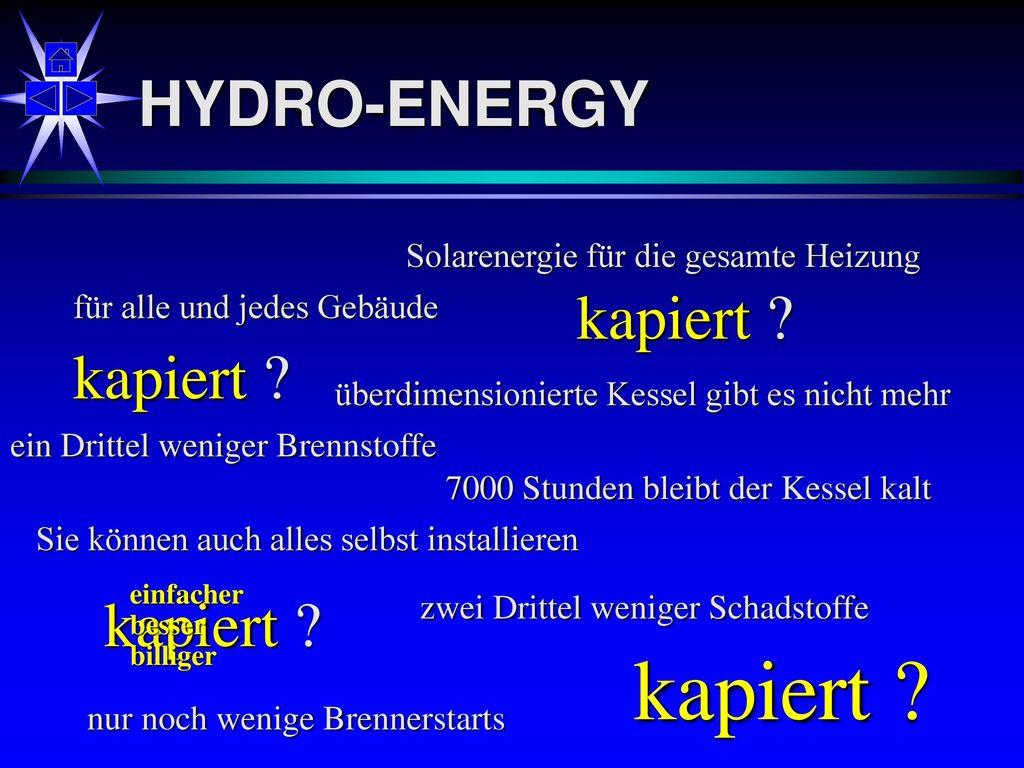 kapiert HYDRO-ENERGY kapiert kapiert kapiert