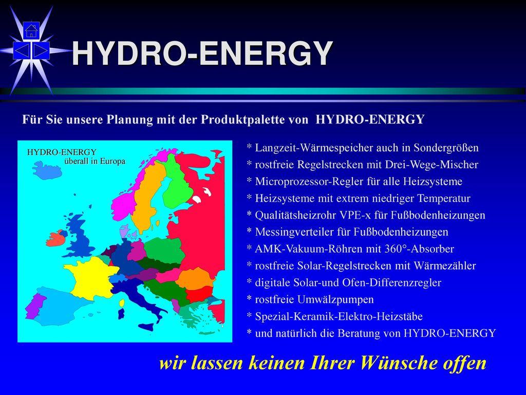 HYDRO-ENERGY wir lassen keinen Ihrer Wünsche offen