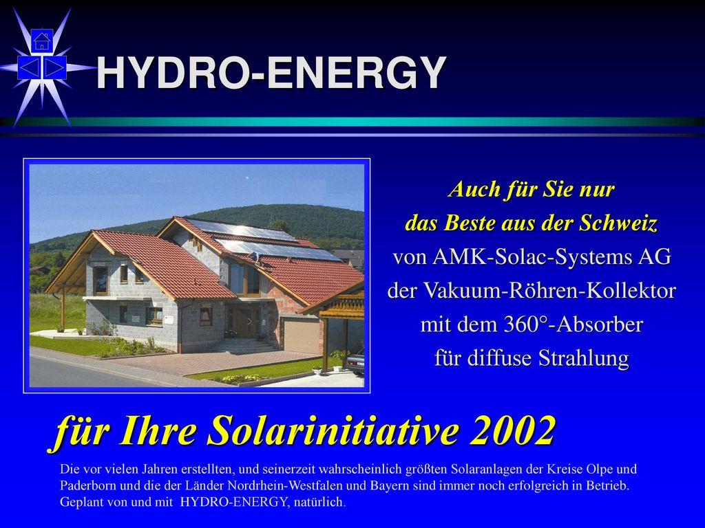 für Ihre Solarinitiative 2002