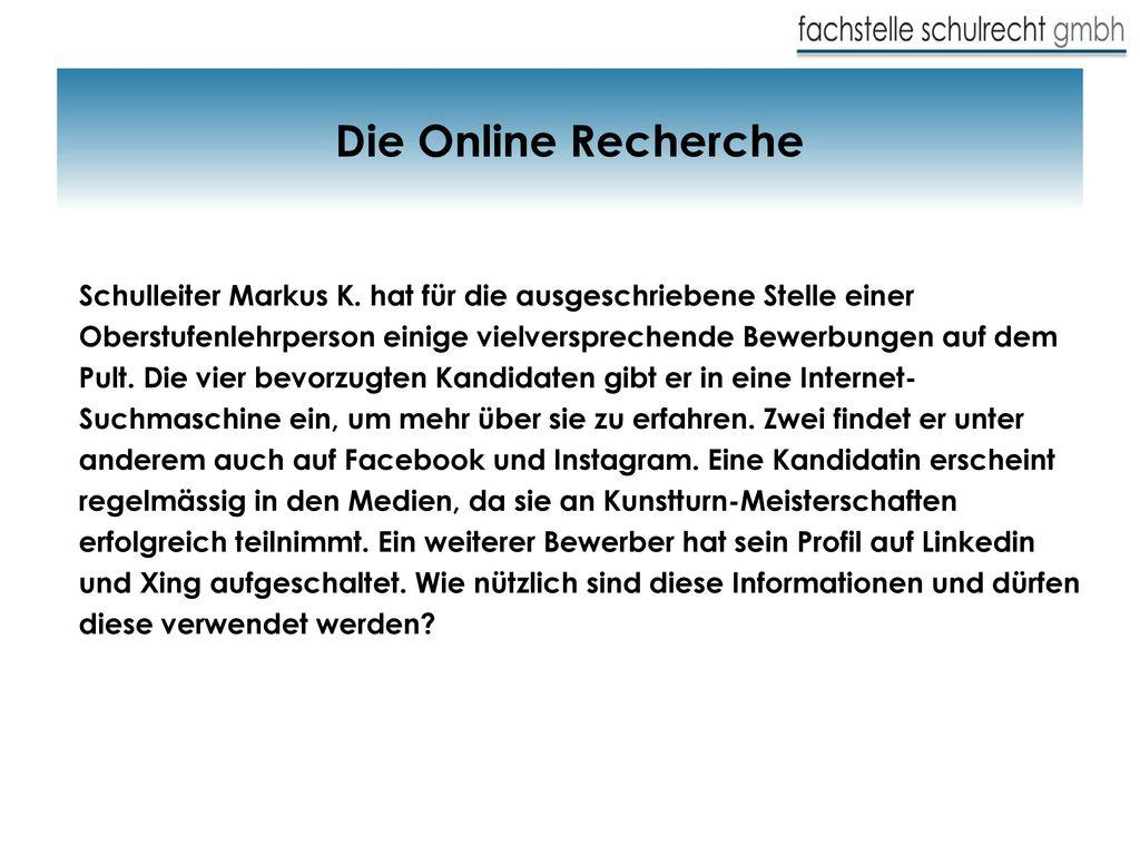 Die Online Recherche