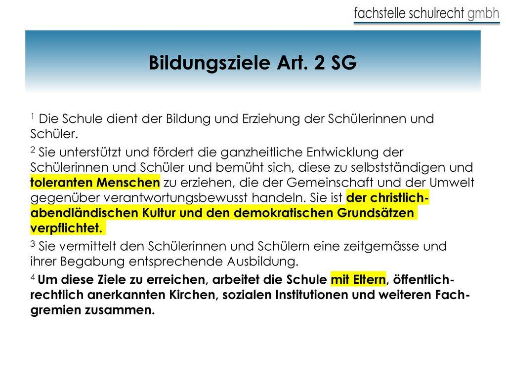 Bildungsziele Art. 2 SG