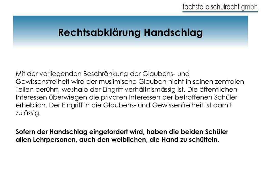 Rechtsabklärung Handschlag