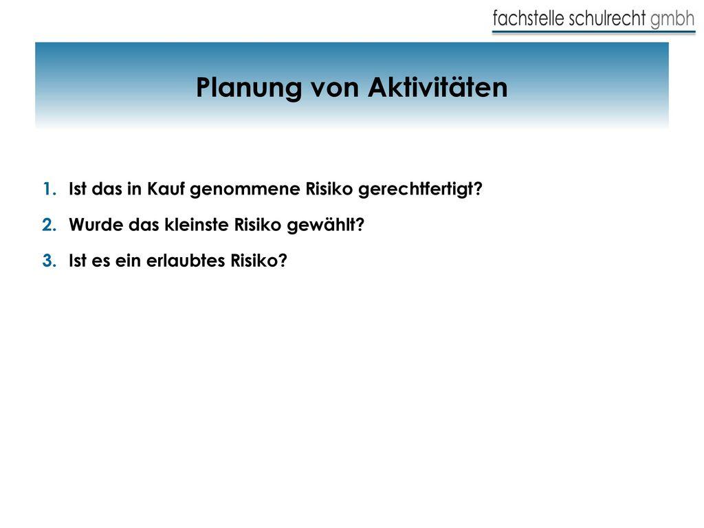 Planung von Aktivitäten