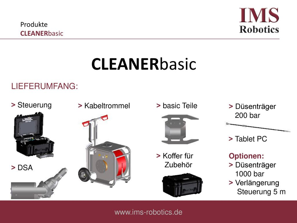 CLEANERbasic LIEFERUMFANG: Produkte CLEANERbasic ˃ Steuerung