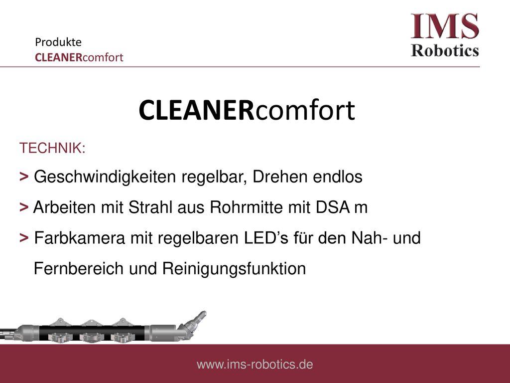 CLEANERcomfort ˃ Geschwindigkeiten regelbar, Drehen endlos