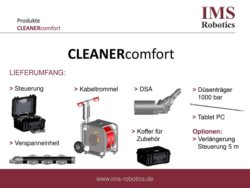 CLEANERcomfort LIEFERUMFANG: Produkte CLEANERcomfort ˃ Steuerung