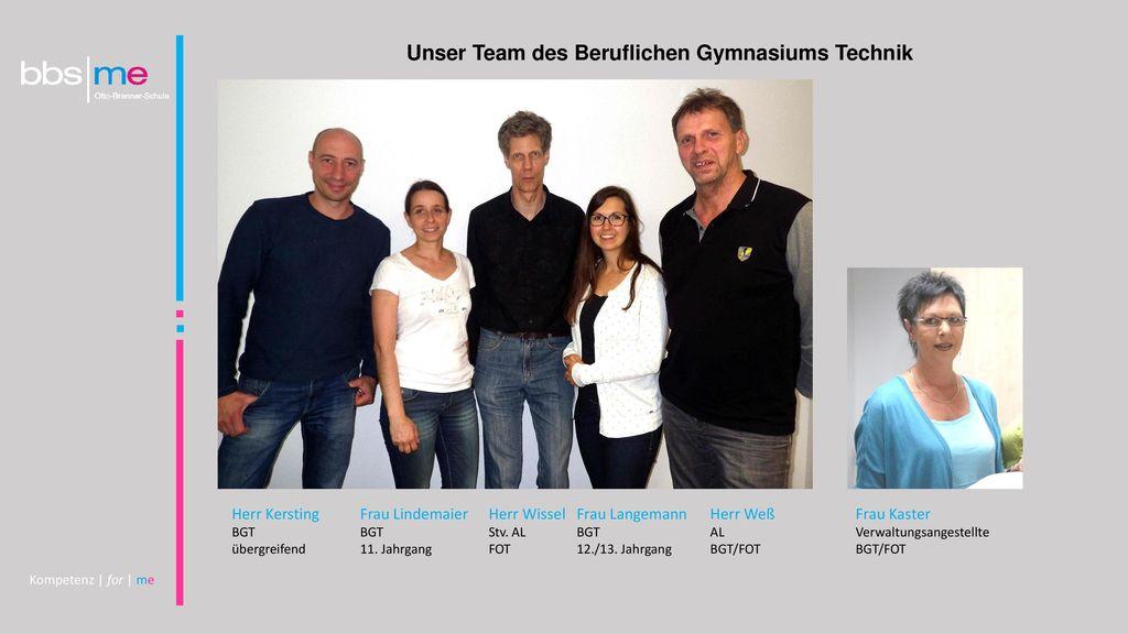 Unser Team des Beruflichen Gymnasiums Technik