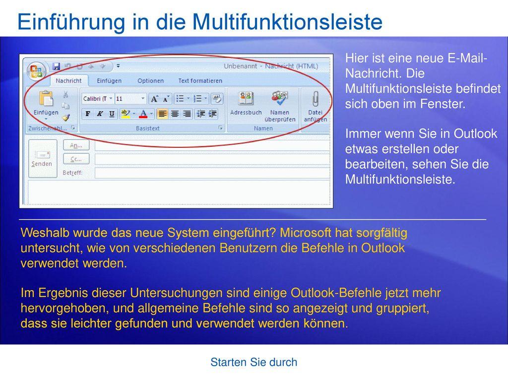 Einführung in die Multifunktionsleiste