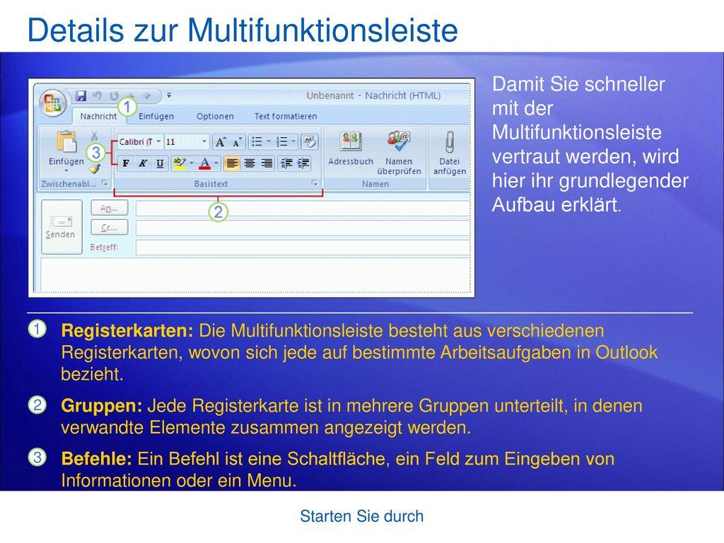 Details zur Multifunktionsleiste