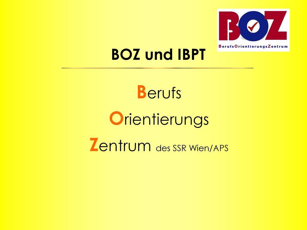 Berufs Orientierungs Zentrum des SSR Wien/APS