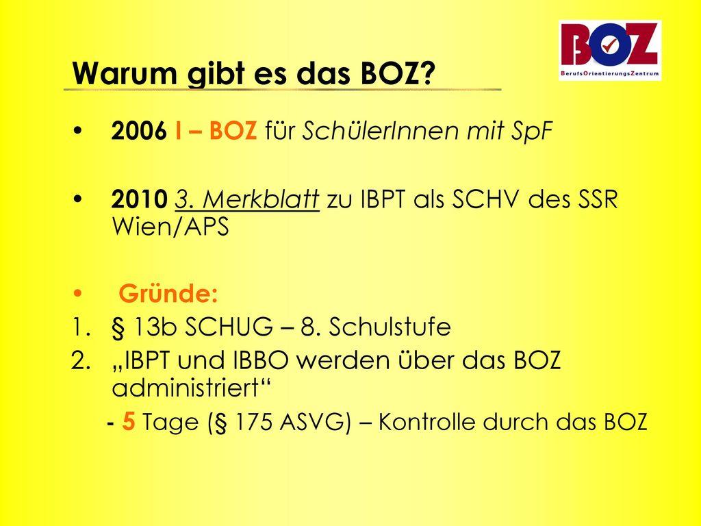 2006 I – BOZ für SchülerInnen mit SpF