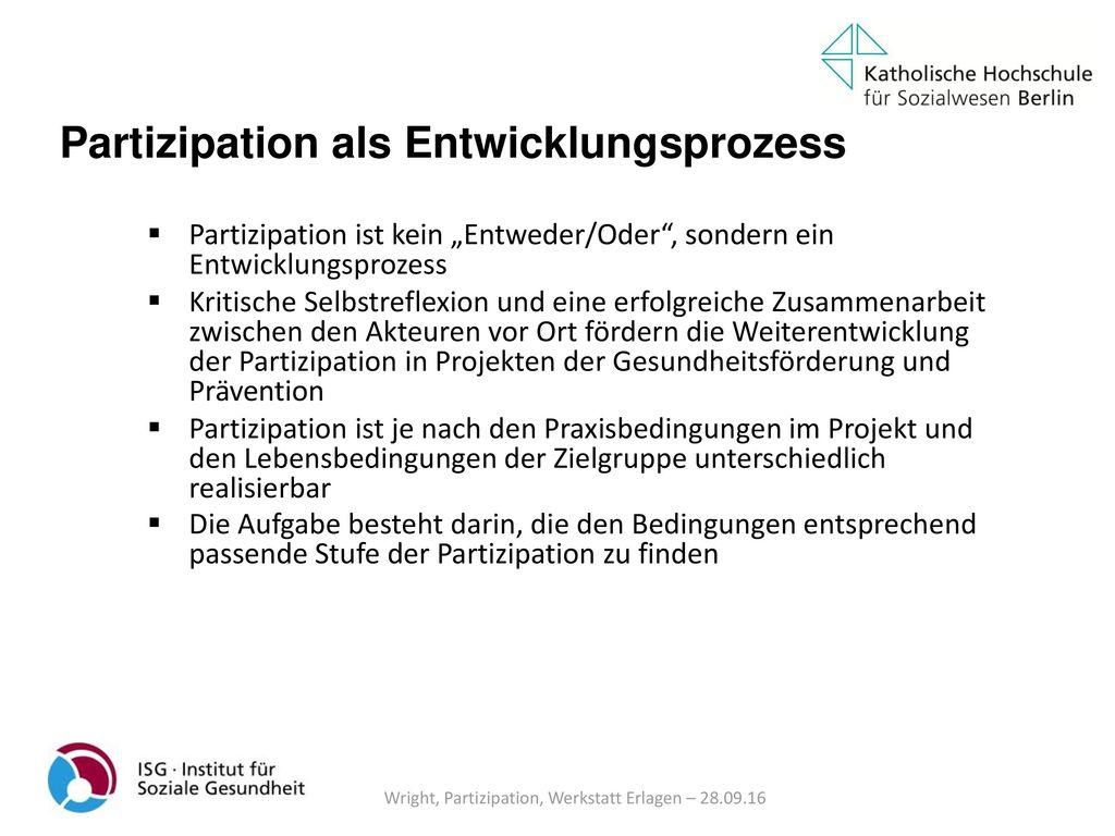 Wright, Partizipation, Werkstatt Erlagen – 28.09.16