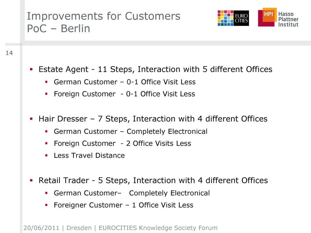 Improvements for Customers PoC – Berlin