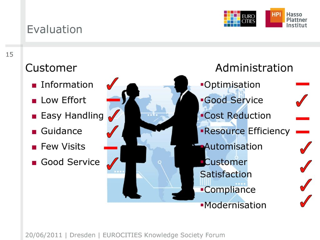 Evaluation Customer Administration Information Low Effort