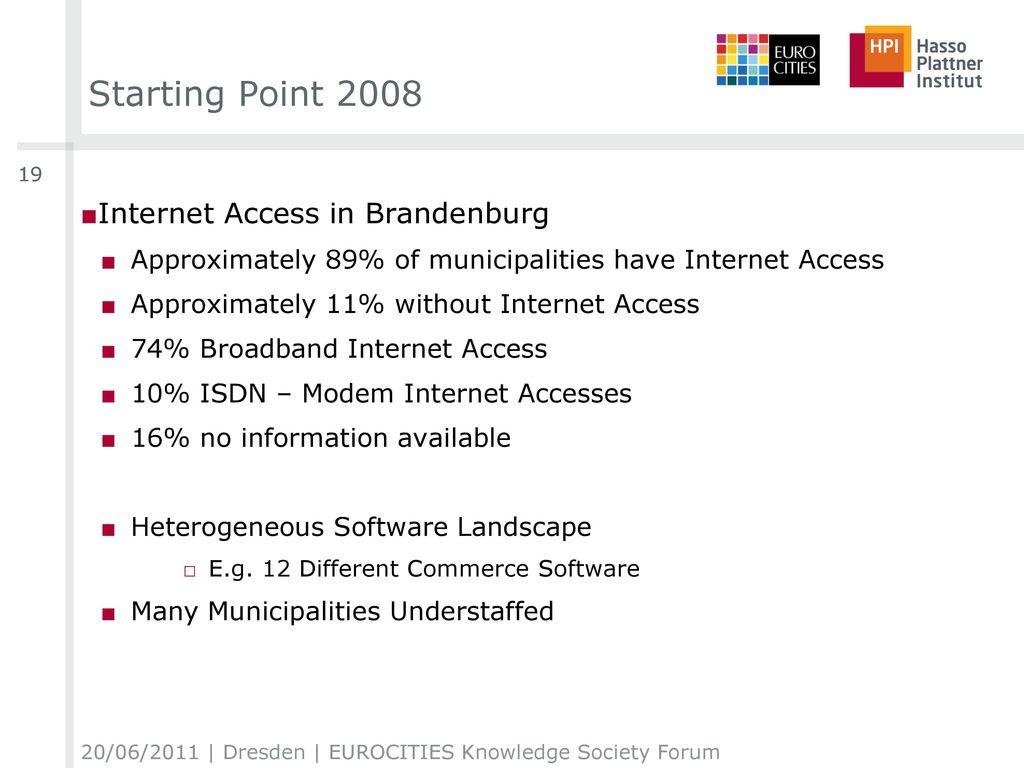 Starting Point 2008 Internet Access in Brandenburg