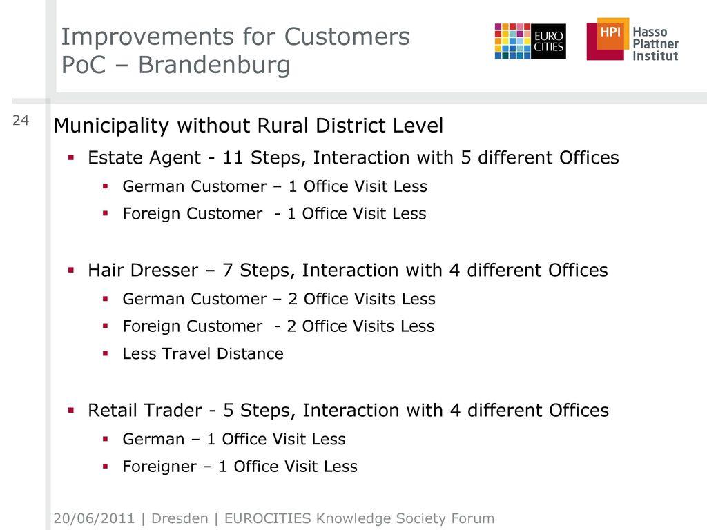 Improvements for Customers PoC – Brandenburg