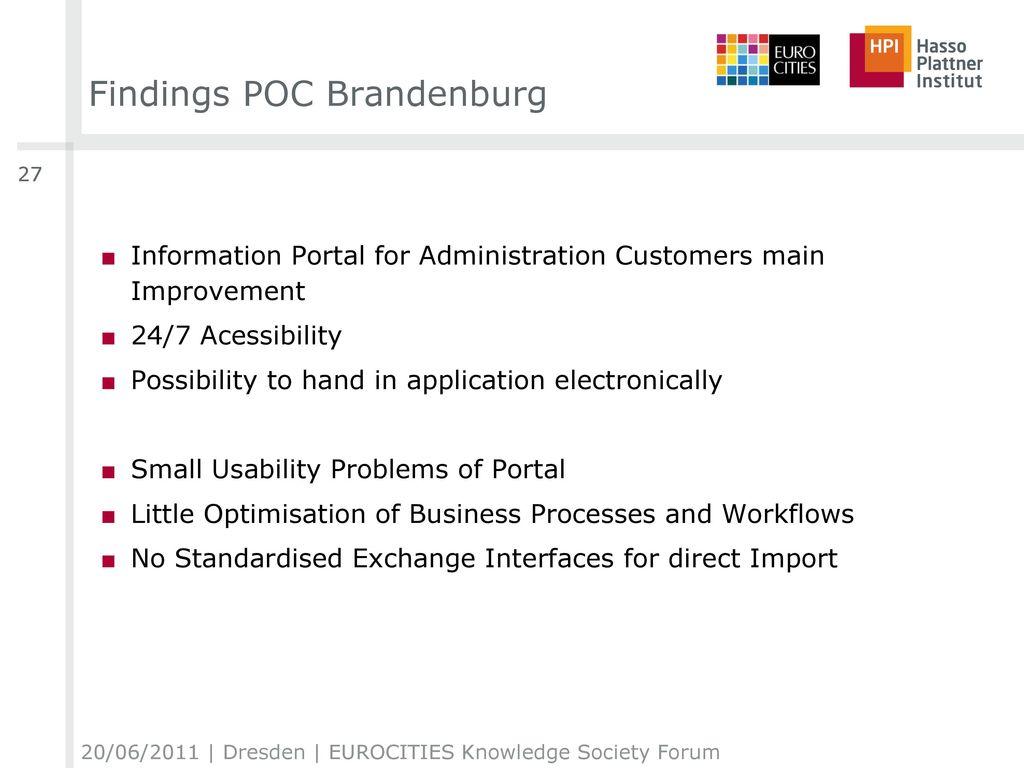 Findings POC Brandenburg