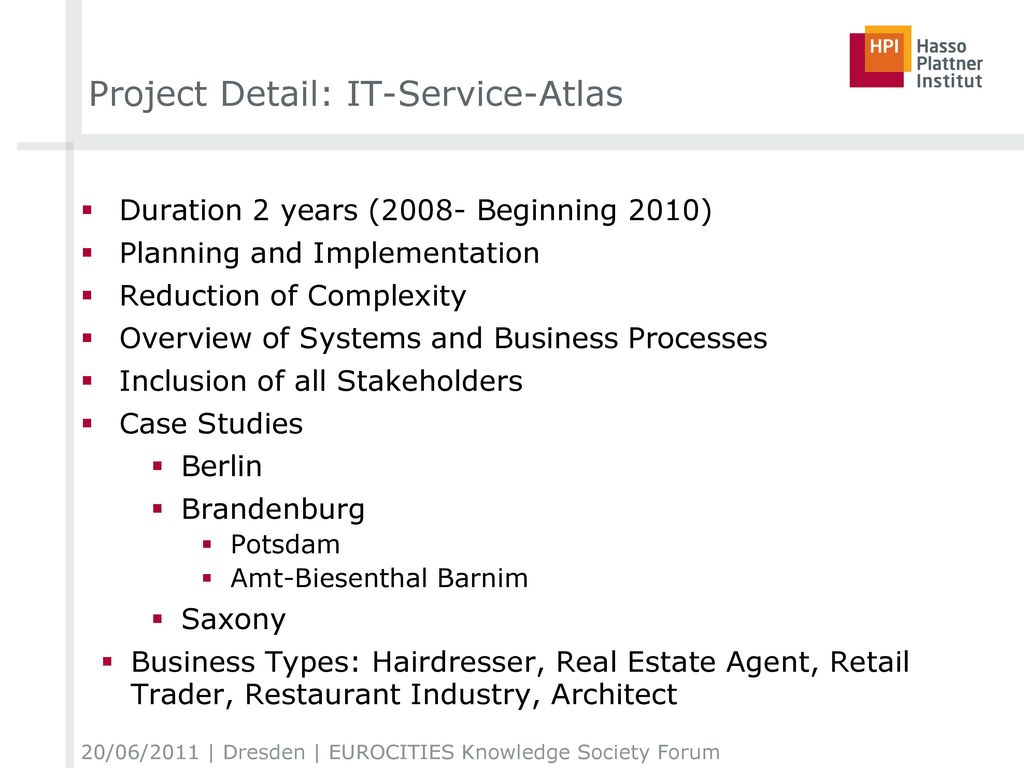 Project Detail: IT-Service-Atlas