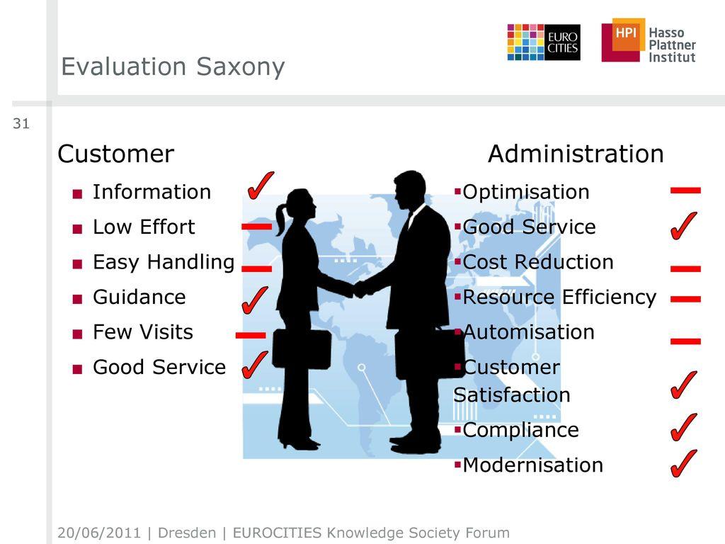 Evaluation Saxony Customer Administration Information Low Effort