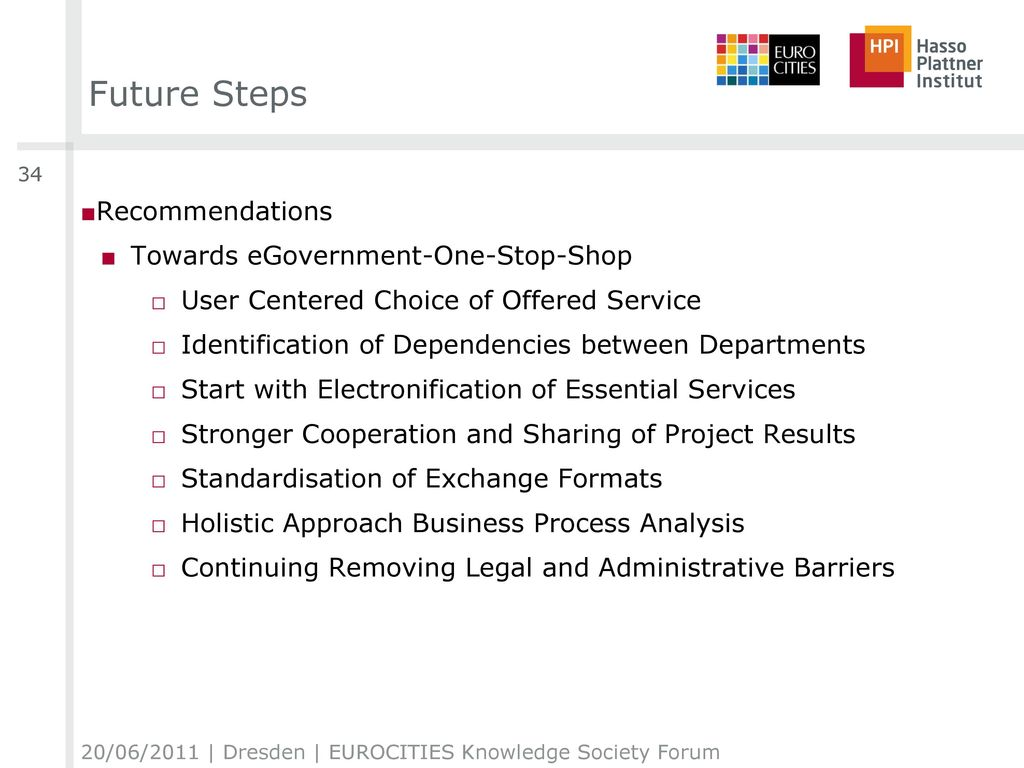 Future Steps Recommendations Towards eGovernment-One-Stop-Shop