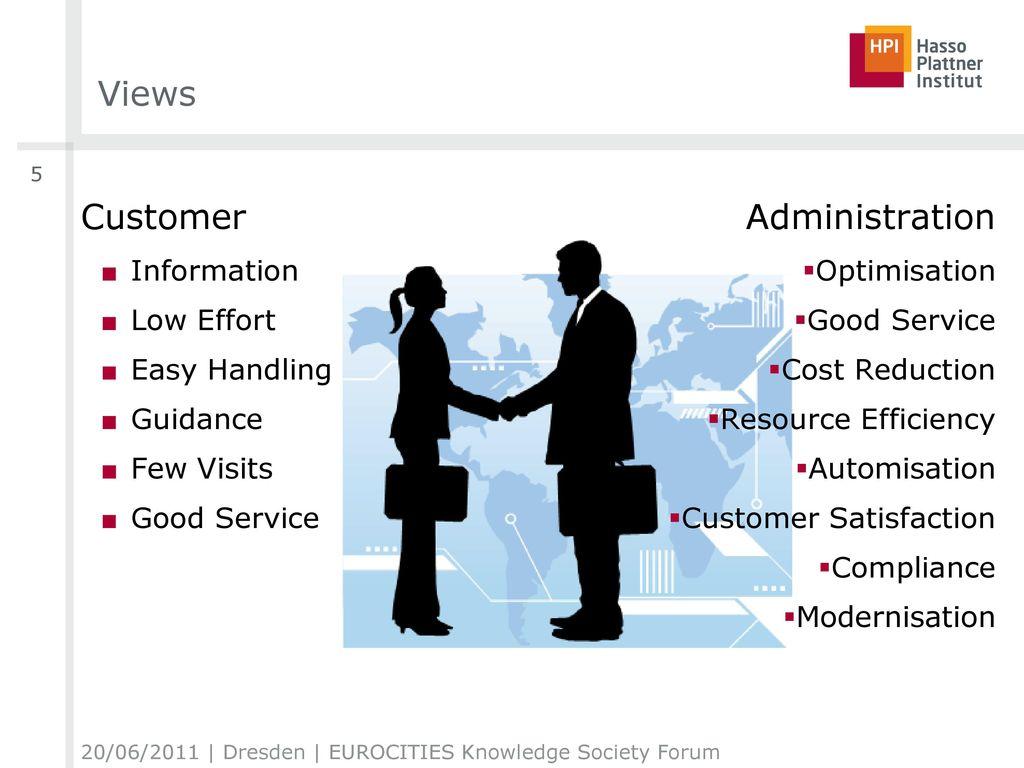 Views Customer Administration Information Low Effort Easy Handling