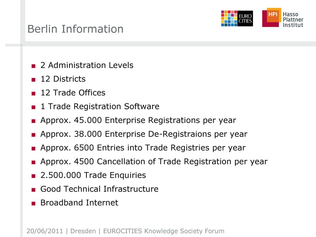 Berlin Information 2 Administration Levels 12 Districts
