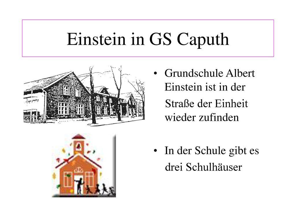 Einstein in GS Caputh Grundschule Albert Einstein ist in der