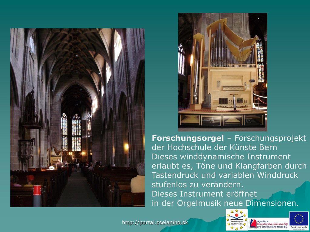 Forschungsorgel – Forschungsprojekt der Hochschule der Künste Bern