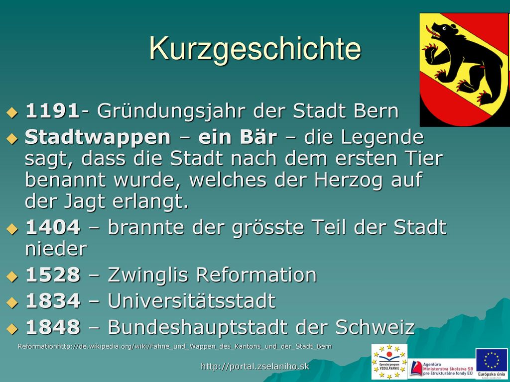 Kurzgeschichte 1191- Gründungsjahr der Stadt Bern