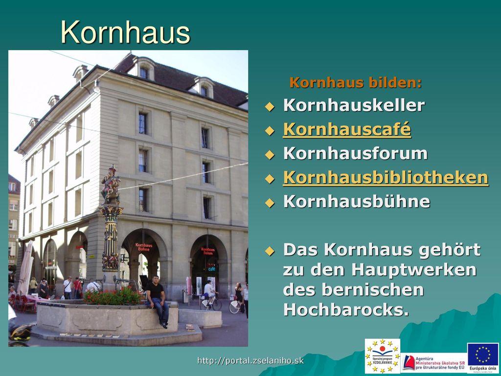 Kornhaus Kornhauskeller Kornhauscafé Kornhausforum