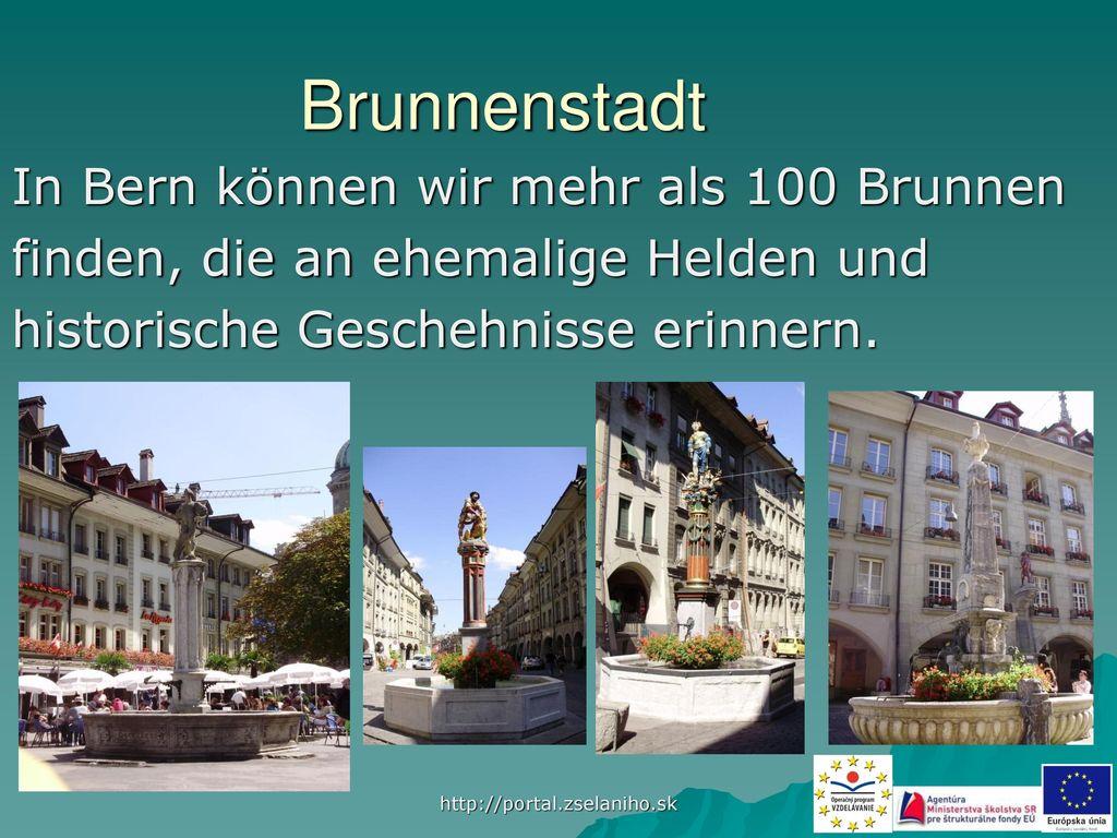 Brunnenstadt In Bern können wir mehr als 100 Brunnen