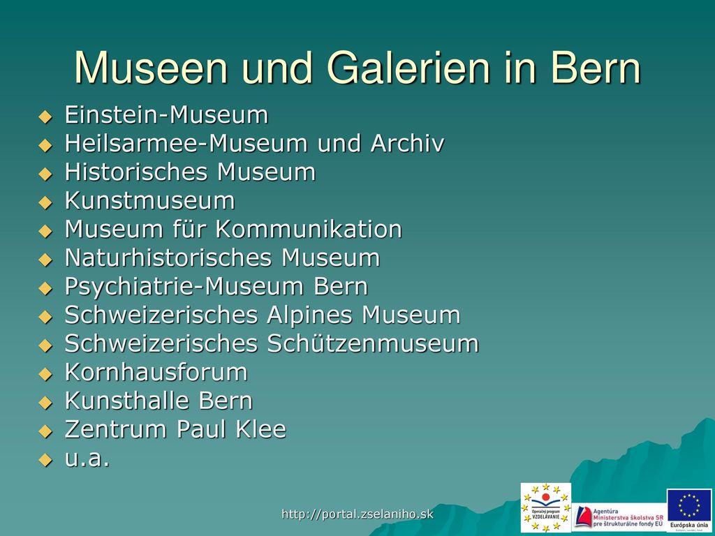 Museen und Galerien in Bern