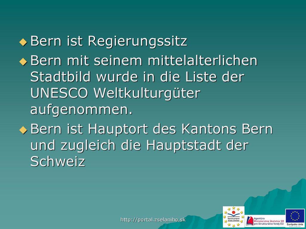 Bern ist Regierungssitz