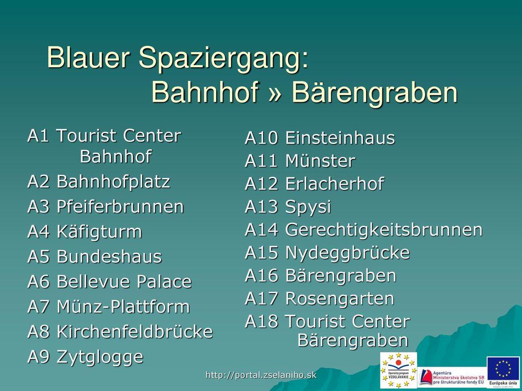Blauer Spaziergang: Bahnhof » Bärengraben