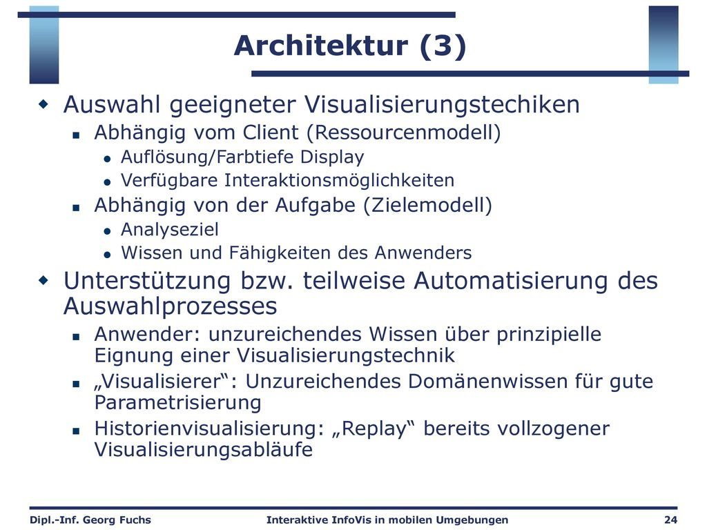 Architektur Visualisierungsmodul
