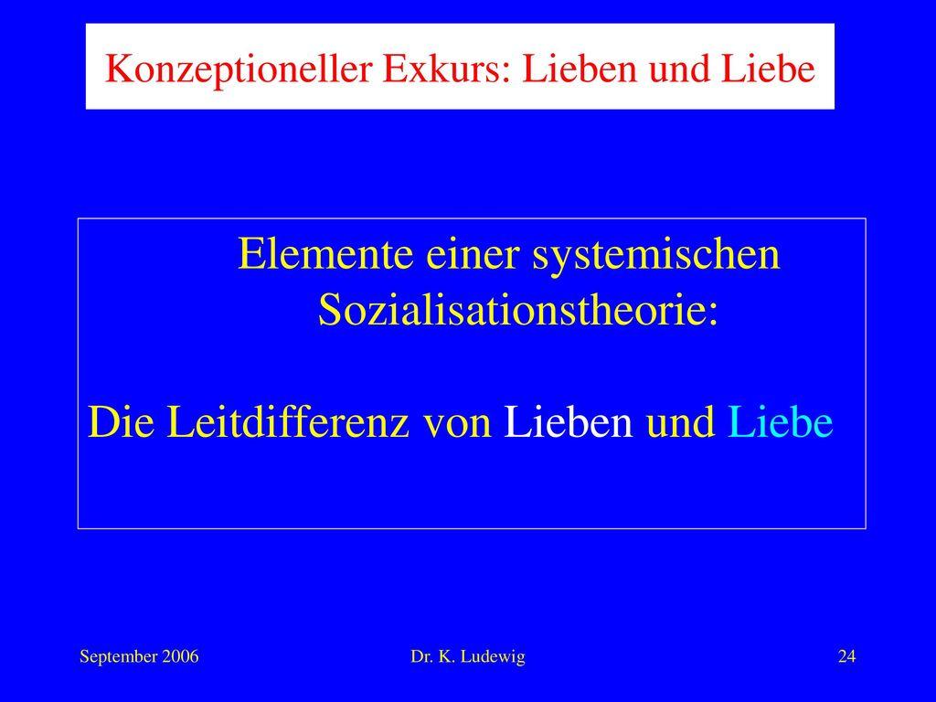 Elemente einer systemischen Sozialisationstheorie: