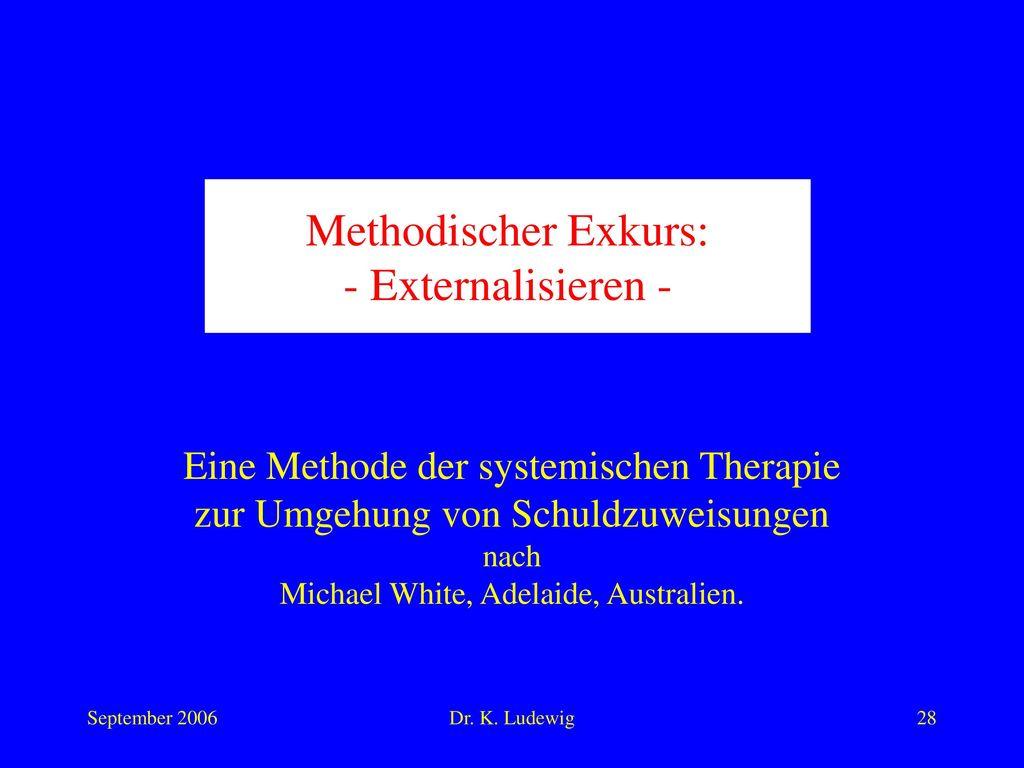 Methodischer Exkurs: - Externalisieren -