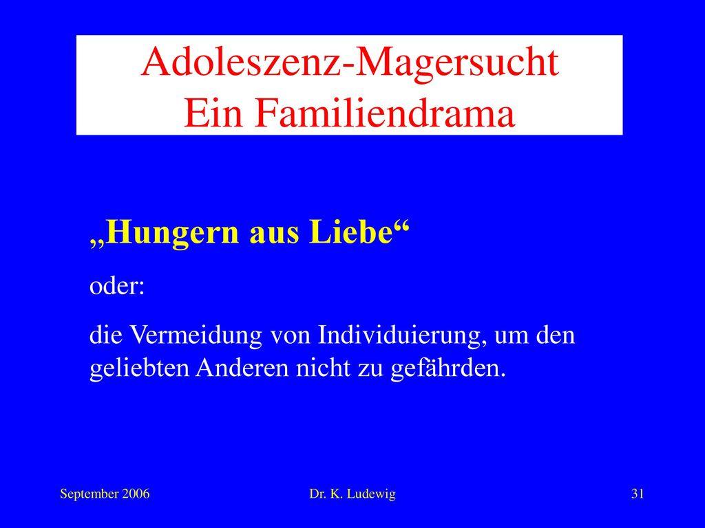 Adoleszenz-Magersucht Ein Familiendrama