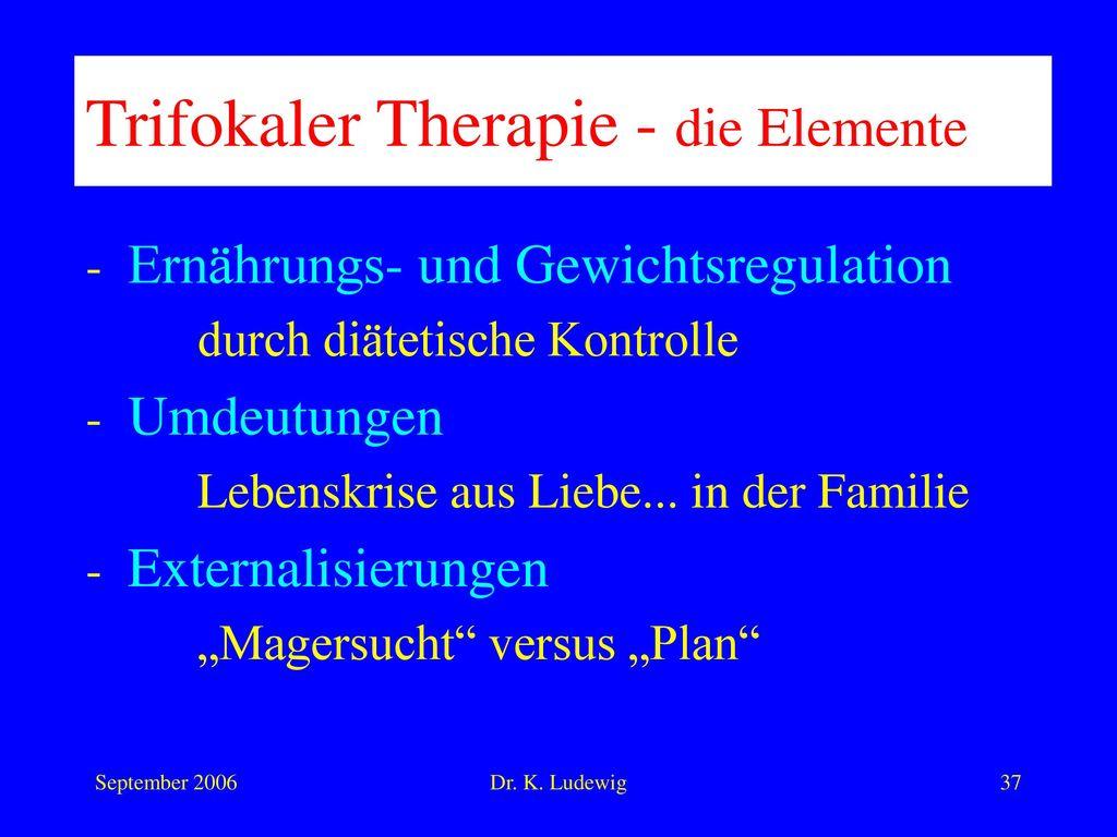 Trifokaler Therapie - die Elemente