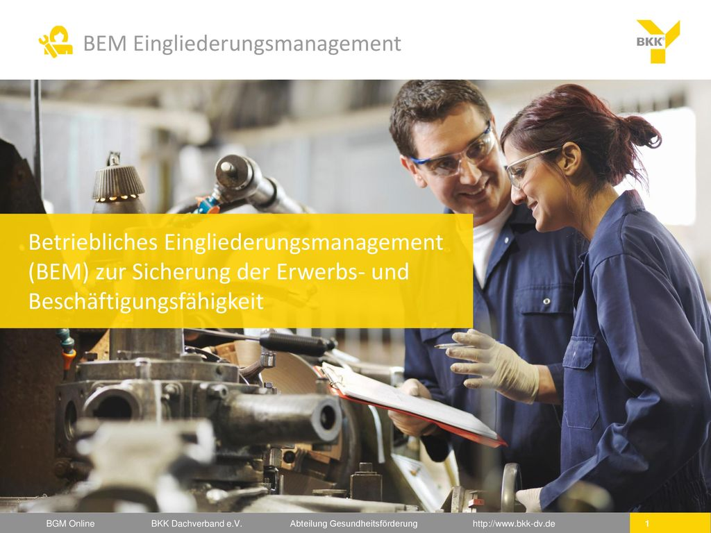 Betriebliches Eingliederungsmanagement (BEM) zur Sicherung der Erwerbs- und Beschäftigungsfähigkeit